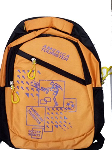 PLAY WORLD ONLINE Collage And Laptop Bag Outer Material Synthetic Color Orange