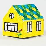 Papphaus, einstöckig, 8 Stk., zum Selbstgestalten Bemalen - Malhaus Bastelhaus Kartonhaus