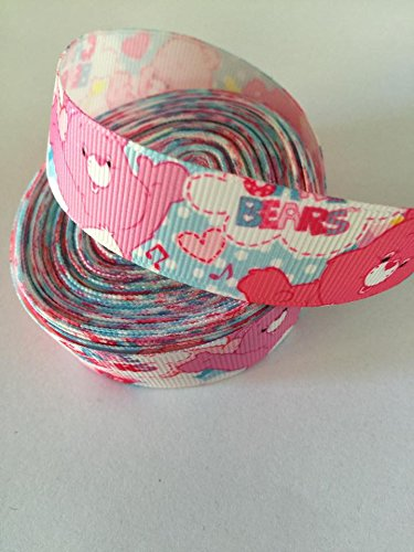 Image of 2 Yards CARE BEARS Grosgrain Ribbon 23 mm
