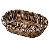 Saleen Großer Mehrzweck-Korb, Gastrotauglich, Oval, 32 x 23 x 7 cm, Kunststofffaser, Dunkelbraun, 02010706101
