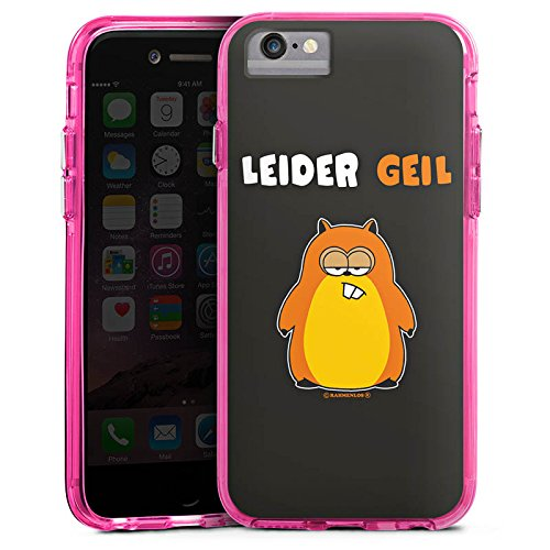 Apple iPhone 8 Bumper Hülle Bumper Case Glitzer Hülle Leider Geil Hamster Lustig Bumper Case transparent pink