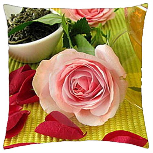 pink-roses-red-petals-and-green-tea-throw-pillow-cover-case-18-x-18