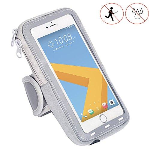 Handy Schutzhülle Tasche   für Switel Mambo S4018D   Sport armband zum Laufen, Joggen, Radfahren   SPO-1 Grau