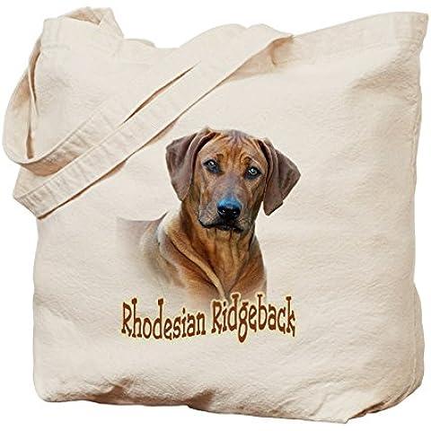 CafePress–Rhodesian Ridgeback–Borsa di tela naturale, panno borsa per la spesa