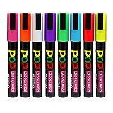 Pennarelli Gesso Liquido - Aolestar - 6mm Cancellabili a Secco Confezione da 8 Colori
