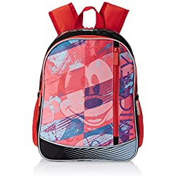 "Mickey Mouse Polyester Children's Backpack (ACT MK 1502 14""-RED)"