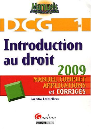 Introduction au droit DCG1 : Manuel complet, applications et corrigés