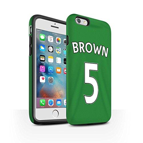 Offiziell Sunderland AFC Hülle / Matte Harten Stoßfest Case für Apple iPhone 6+/Plus 5.5 / Pack 24pcs Muster / SAFC Trikot Away 15/16 Kollektion Brown