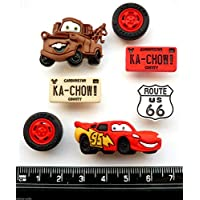 Disney CARS - Novelty Craft Buttons & Embellishments by Dress It Up