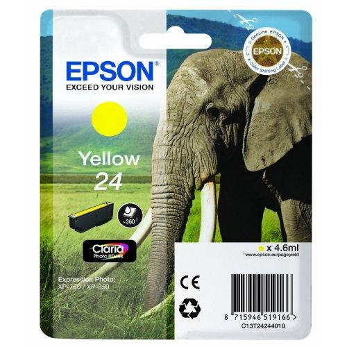 1x Cartouche d'encre d'origine pour EPSON Expression Photo XP 850, de C13T24244010–Yellow