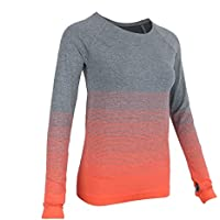 Magideal Camiseta de Yoga Mujer Deportiva Camiseta de Manga Larga  Compresión Atlética Cómoda 4bd0f1a0c4469