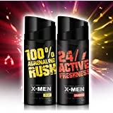 X-MEN Deodorant Body Spray ZEST+CHARGE (Combo Pack Of 2 X 150 Ml) For Men