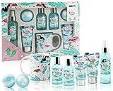 BRUBAKER Cosmetics - Coffret de bain & douche - Noix de coco/Flamant rose - 8 Pièces - Mug en Céramique inclus - Idée cadeau