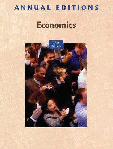 Annual Editions: Economics, 35/e by Don Cole (2009-02-09)