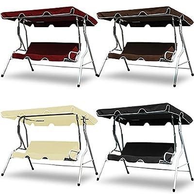 Swing Bench Seat - Garden Canopy Swing Bench Hammock Swinging Furniture Seat - 71 x 51 x 68 Inches