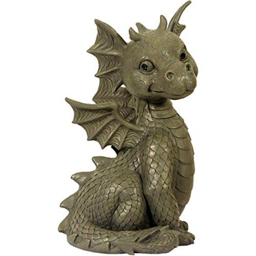 Dragón! Sentado! Jardín del dragón! Figura! La decoración! figura del dragón!