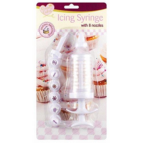 Zuckerguss-Spritze mit 8Düsen (Großhandel Portemonnaie Handtasche)