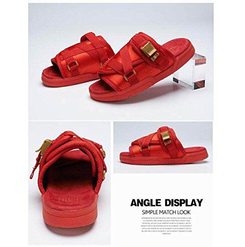 Lxxaunisex Summer Beach Clothing Sandalias Casuales Zapatilla De Senderismo Zapatos Rojo