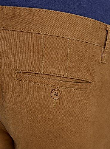 oodji Ultra Homme Pantalon Chino en Coton Marron (3100W)
