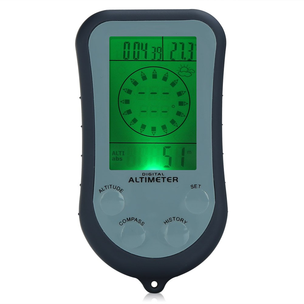 6 In 1 Digital Compass W/ Altimeter Barometer Thermometer ...