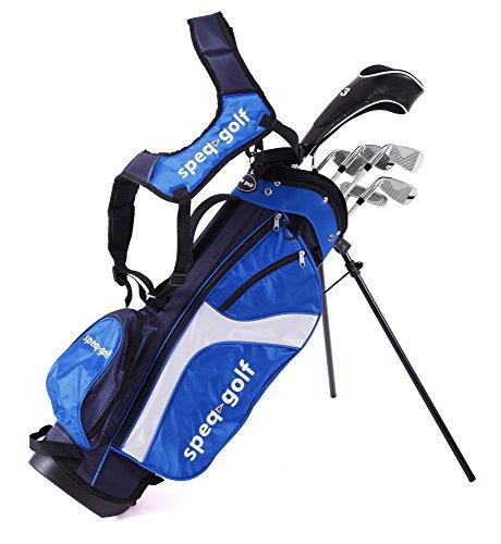Speq Demi-série de golf droitier pour enfant avec sac Vert...