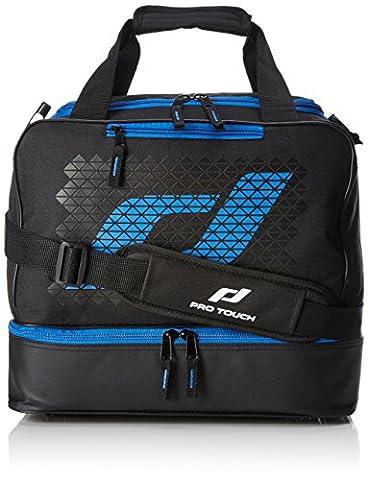 Pro Touch Kinder Pro Bag Jr Force Sporttasche, Schwarz/Blau, 38 x 22 x 32 cm