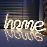XIYUNTE Led Neonlicht Deko Lampe - Zuhause Neon Neonlicht, Festzelt Batterie oder USB Tabelle Led Ligths Wanddekoration (Weiß Zuhause)
