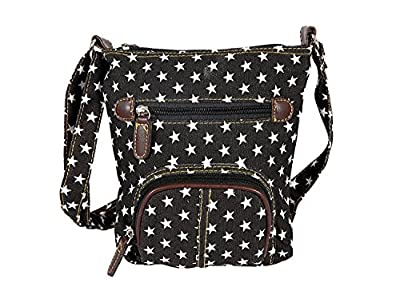 JollyChic Small Denim Bag Mini Crossbody Bag Shoulder Bag with 2 External Zip Pockets