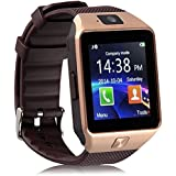 DXABLE Bluetooth Reloj Inteligente - Reloj De Pulsera Fit para Smartphones iOS Apple iPhone 4/4S/5/5 C/5S Android Samsung S2/S3/S4/Note 2/Note 3 HTC Sony Blackberry (Oro)