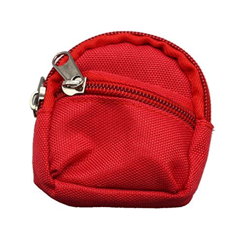 BZLine® Mini Schultasche Rucksack Rucksack Zubehör für Barbie-Puppe (Rot)