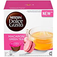 Nescafé Dolce Gusto Macaron Green Tea, Té verde, Aroma frambuesa, 16 Cápsulas
