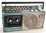 Radiorekorder aus Metall als Spardose 27 x 19 cm Nostalgie Metall Radio Kassettenrekorder Audio Ghettoblaster