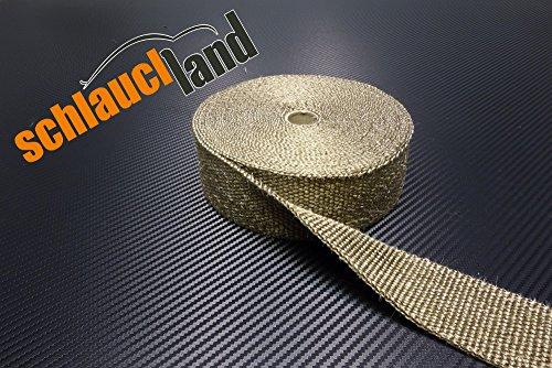 10m Titan Hitzeschutzband 25mm 1400°C SCHLAUCHLAND*** Auspuffband Thermoband Krümmerband Heat Wrap Basaltfaser Isolierband