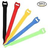 Siming 50pezzi riutilizzabili, fascette in velcro Cord Wraps regolabile cavo organizzatore colorato chiusura a gancio e loop