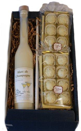 Confiserie Bauer, Lauenstein - 350ml Marc de Champagne-Likör + 200g Marc de Champagne-Trüffel Pralinen