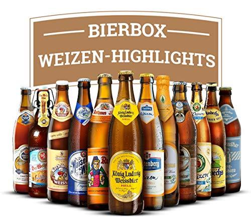 Weizenbier Box: Deutsche Highlights - 12 feine Flaschen (je 0,5l MEHRWEG) Weissbier Rund Reise durch die Republik ideal als Geschenk -