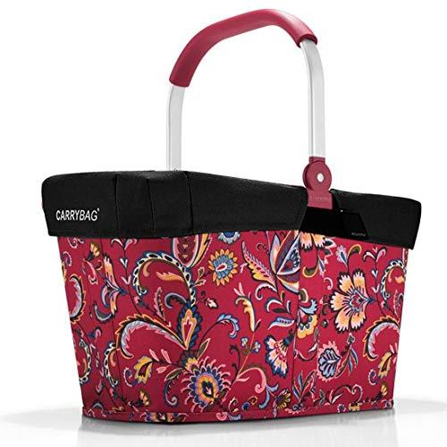 reisenthel ANGEBOT Einkaufskorb carrybag plus passendes cover Sichtschutz Abdeckung (paisley ruby)