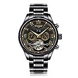 Ballylelly-KINYUED Mode aushöhlen mechanische Uhr Männer automatische Klassische Armbanduhr von