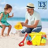 SGILE Set de Juguete de Playa Cubo Arena Juguetes de Playa para Ninos (13 Piezas)