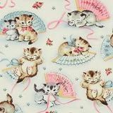 Michael Miller Vintage Stoff Kätzchen Smitten Kittens
