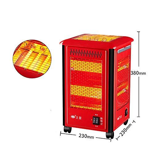 Heating Calentador de Cinco Lados, Asador a la Parrilla, Pequeño Calentador Solar, Horno Eléctrico Doméstico, Calentador Eléctrico de la Parrilla,Rojo,Un tamaño