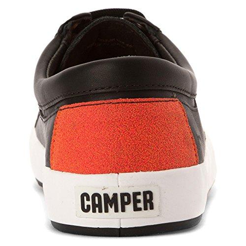Camper Herren Schwarz Leder Sneakers Schwarz