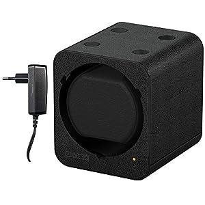 Boxy Fancy Brick Uhrenbeweger, Dark Black, PU Leder, modular