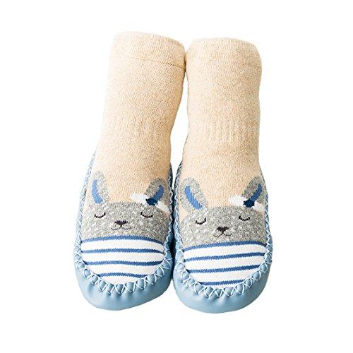 Unisex-Baby Socken Hüttenschuh Söckchen Mit Ledersohle Anti-Rutschsohle (M: 18-30 Monate, Gelb)