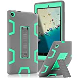 TOPSKY Case for All-New Amazon Fire HD 8 2016 (6th Gen),[Kickstand Feature],Shock-Absorption/High Impact Resistant Armor Defender Case for Fire HD 8 Tablet (6th Gen, 2016 Release), Grey/Green
