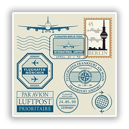 2x Berlin Germany Vinyl Aufkleber Reise Gepäck # 10574