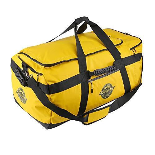 Aquabourne Tasman XL - Bolsa de Viaje Extra Grande de Lona - Bolsa de Gimnasio para Deportes de Material Impermeable - 100 L (Amarillo)