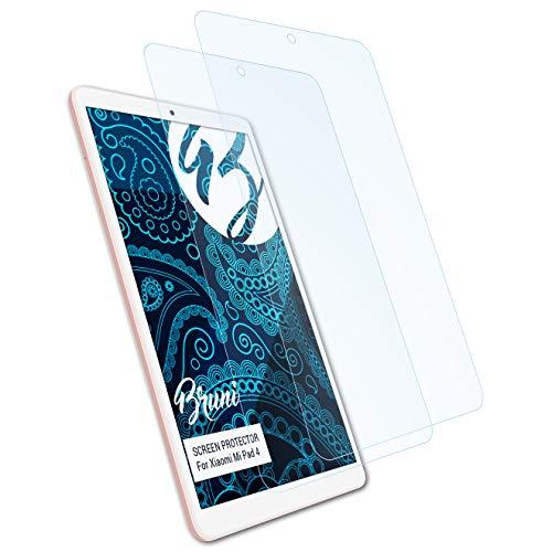 Bruni Schutzfolie kompatibel mit Xiaomi Mi Pad 4 Folie, glasklare Bildschirmschutzfolie (2X)