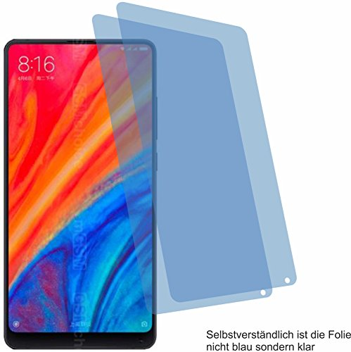 4ProTec 2X Crystal Clear klar Schutzfolie für Xiaomi Mi Mix 2S Bildschirmschutzfolie Displayschutzfolie Schutzhülle Bildschirmschutz Bildschirmfolie Folie