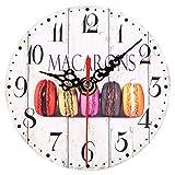 Orologio Sveglia da Comodino Vintage Sveglia da Parete Muro Orologio in Legno Multicolore per Casa Bambini 9 Disegni(6#)